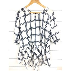 Anthropologie A'reve size L tie blouse stripes